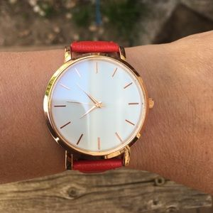 Accessories - Red band women's watch